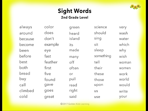 learn-2nd-grade-english-sight-words-~-you-tube-~