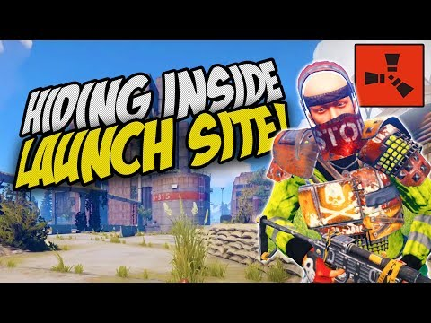 FARMING PLAYERS INSIDE MY CAVE and EXPLORING LAUNCHSITE! - Rust Solo Survival Gameplay