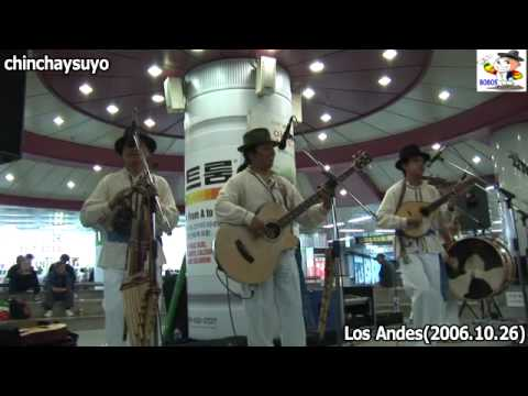 Andean music at subway station in Seoul
