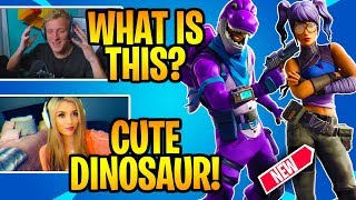 STREAMERS REACT TO *NEW* Crystal & Bronto SKINS! - Fortnite Daily Moments