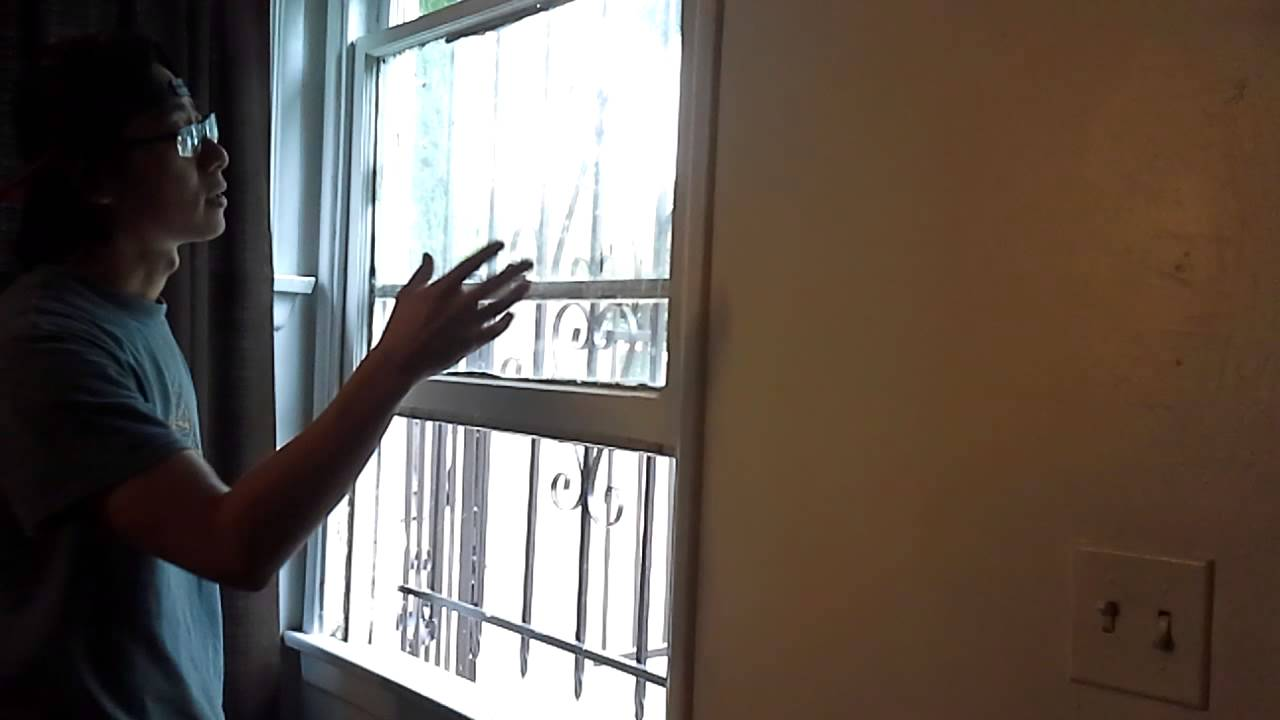 Fixing Single Hung Window : Living room single hung window repair youtube