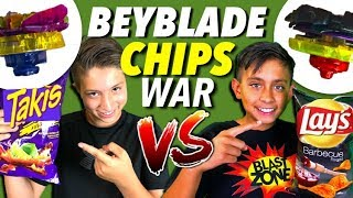 Beyblade Burst As Chip Brands!  Beyblades Battle!