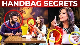 Madhu Shalini Handbag Secrets Revealed!   Whats Inside The Handbag