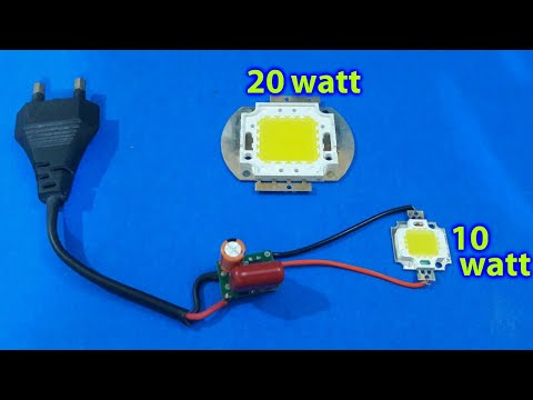 10w or 20w LED on 230v AC (using simple circuit) Repeat - YouTube