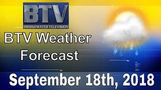 Bridgewater Weather September 18th, 2018