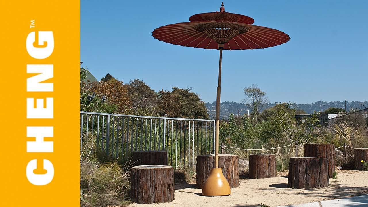 make a concrete umbrella stand from an ikea lamp shade