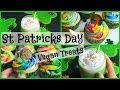 DIY VEGAN ST PATRICK'S DAY TREATS | Shamrock Shake & Pot of Gold Cupcakes with Rainbow Frosting
