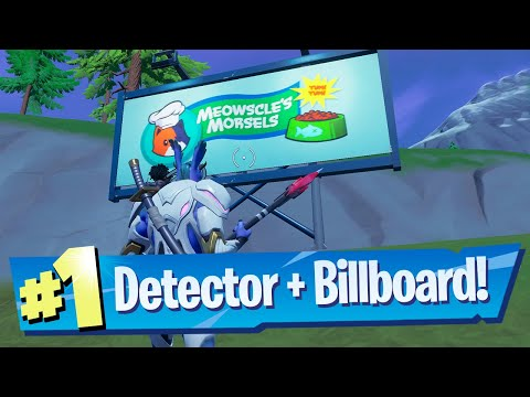 Equip a Detector, then disable an Alien Billboard in one match Location - Fortnite