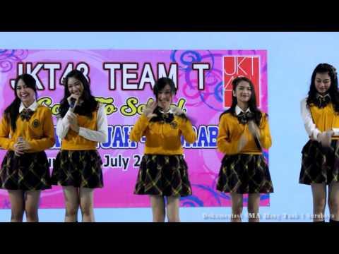 JKT48 Team T2 School perform at SMA Hang Tuah 1 Surabaya