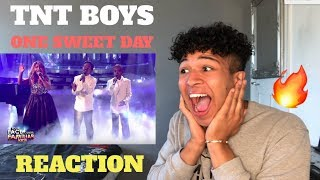 tnt boys as mariah carey boyz ii men one sweet day my reaction