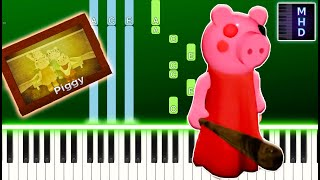 Piggy ROBLOX - Chapter 12 Ending Credits (Piano Tutorial Easy) видео