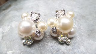 DIY Cluster Pearl Earrings Tutorial | Wedding Jewelry Series | eclecticdesigns