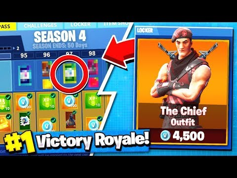 *NEW* Fortnite Season 5 BATTLE PASS Skin! | The CHIEF Revealed! ( Leaked Skins )