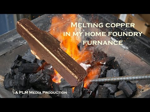 Melting copper in my home foundry furnace