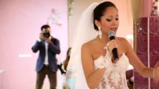 Невеста исполнила РЭП для жениха
