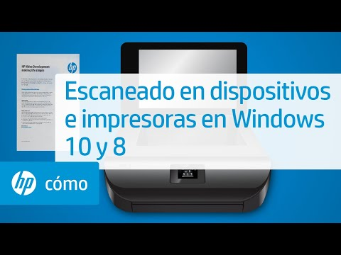 Escaneado en dispositivos e impresoras en Windows 10 y 8 | HP Computers | HP
