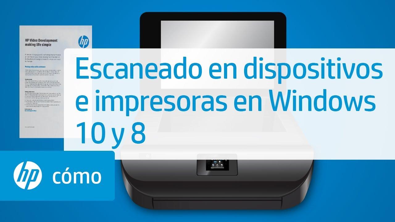 Escaneado en dispositivos e impresoras en windows 10 y 8 - Como instalar una bisagra de 180 grados ...