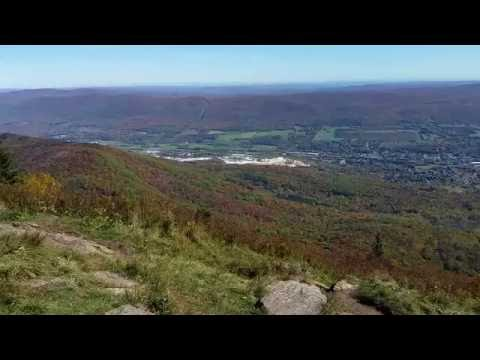 The view from the summit of Mount Greylock, in the Berkshire Mountains, Massachusetts