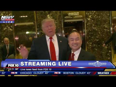 WATCH: Donald Trump Meets With SoftBank Chairman Masayoshi S