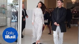Camila Morrone looks stunning in polka dot dress at Cannes