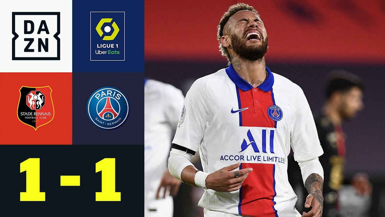 Neymar-Tor, Kimpembe-Rot - Paris lässt wichtige Punkt liegen: Rennes - PSG 1:1   Ligue 1  DAZN
