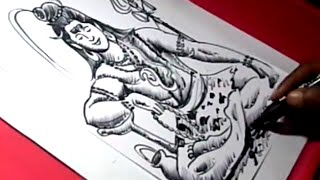 How to Draw LORD OM NAMASHIVAYA DRAWING step by step for kids
