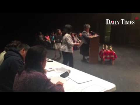 Navajo spelling bee at Piedra Vista High School #navajo #spellingbee