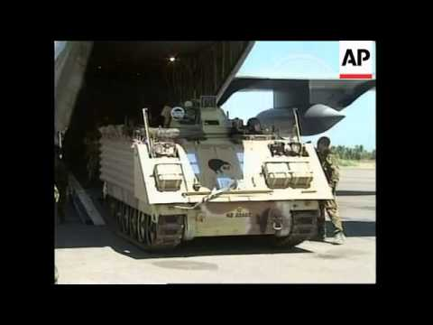 EAST TIMOR: ARRIVAL OF NEW ZEALAND PEACEKEEPING TROOPS