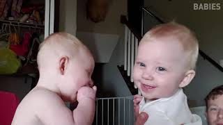 Try Not To Laugh   Funny Twin Babies Laughing Compilation 2018