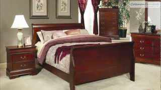 Louis Philippe Cherry Sleigh Bedroom Collection From Coaster Furniture