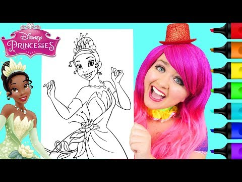 Coloring Tiana Disney Princess and the Frog Coloring Page Prismacolor Markers   KiMMi THE CLOWN