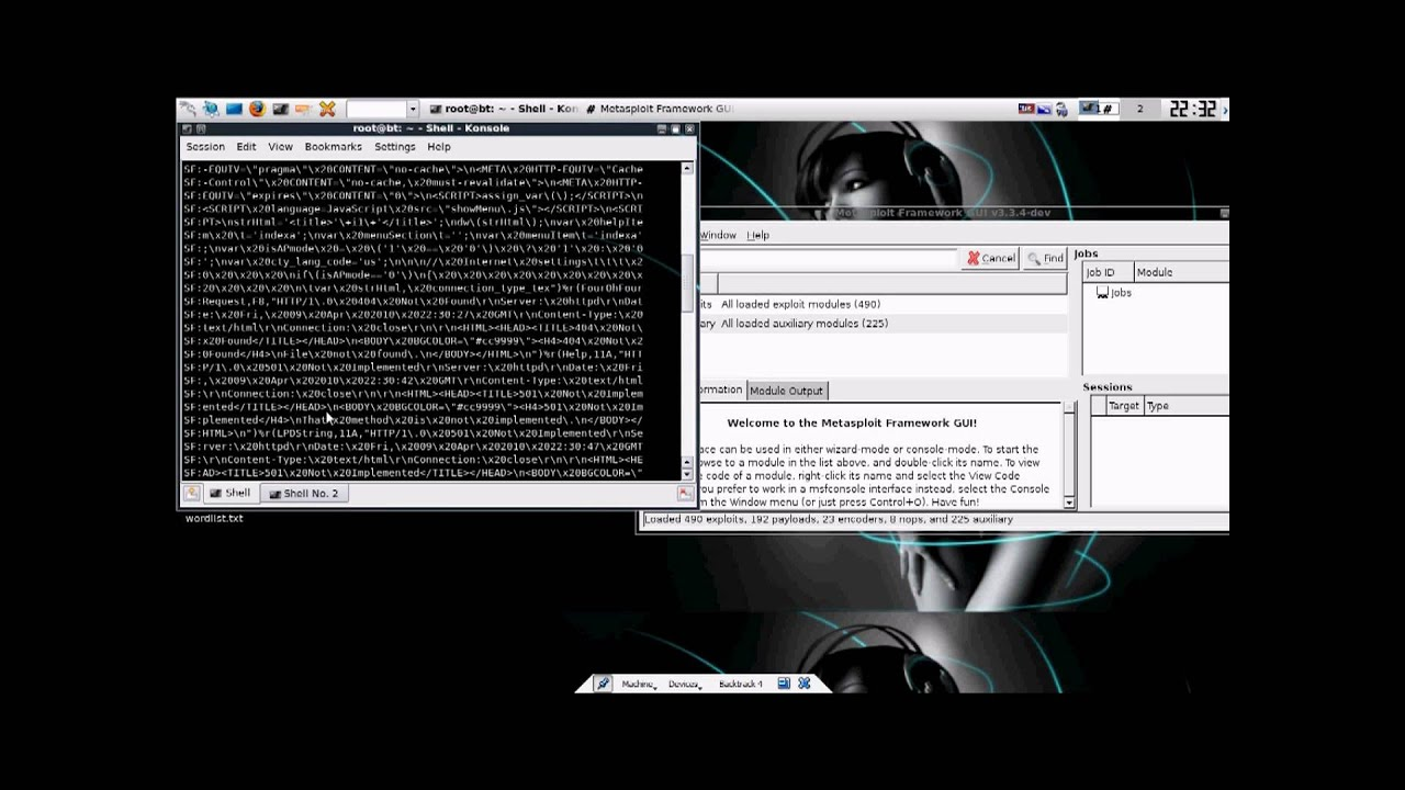 iExploitTube: Episode 4 Exploiting a Remote Service with Metasploit GUI to  get a Bind Shell