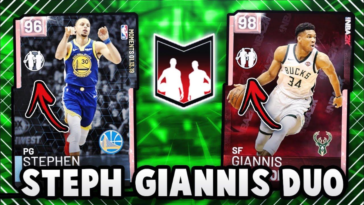 Nba 2k19 Pink Diamond Steph Amp Giannis Duo Gameplay