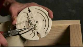 Electrical Light Socket Wiring Video(Mark Donovan of http://www.HomeAdditionPlus.com shows how to properly and safely wire an electrical light socket so that the threat of electrocution while ..., 2012-02-05T15:43:43.000Z)