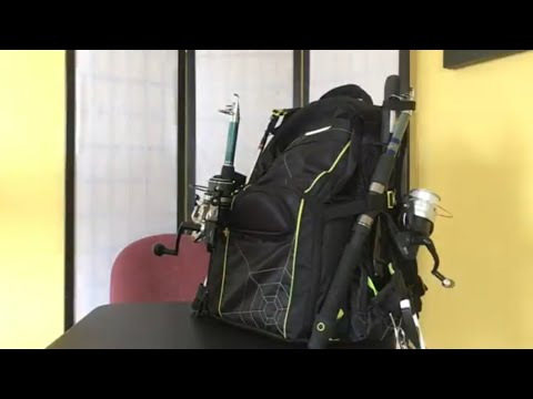 Spiderwire fishing backpack review youtube for Spiderwire fishing backpack