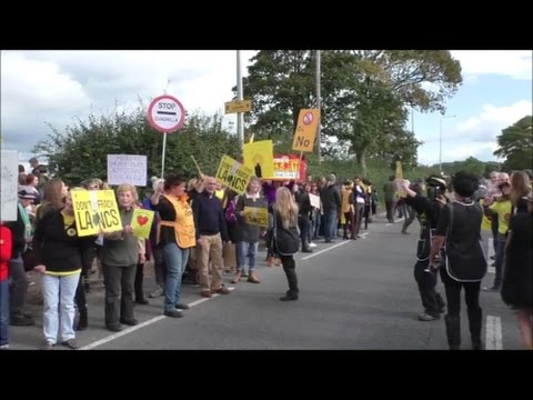 ANTI-FRACKING DEMO - THE MARCH - 8TH Oct 2016 PNR Lancashire