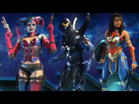 Injustice 2: NEW Gear Showcase For Harley Quinn, Blue Beetle & Wonder Woman
