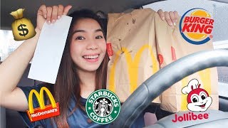 Letting the Person In FRONT of Me DECIDE What I Eat for 24 Hours!   Vanessa Ricohermoso