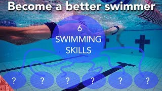 SwImming skills. 6 Hacks for a long successful swim career. How to swim faster.