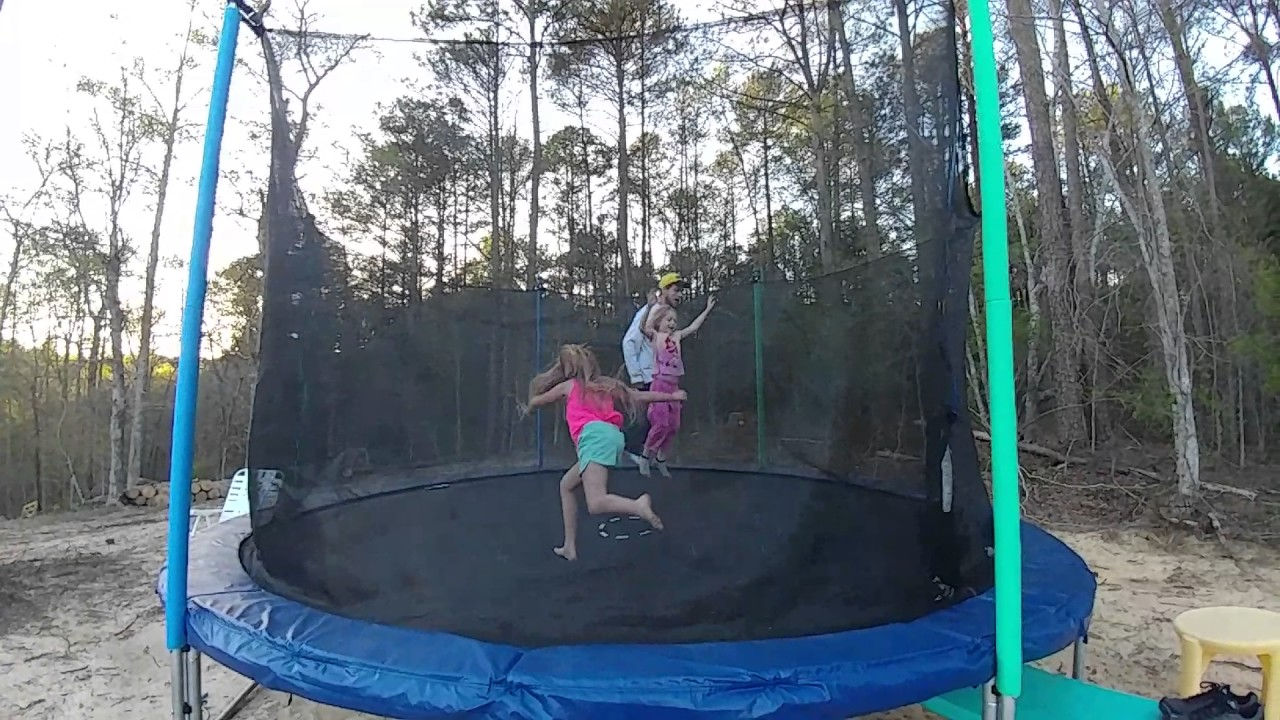 Doing back flips in Georgia with my nieces