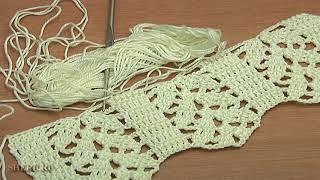 Красивый узор для шарфа или кофточки Урок 3