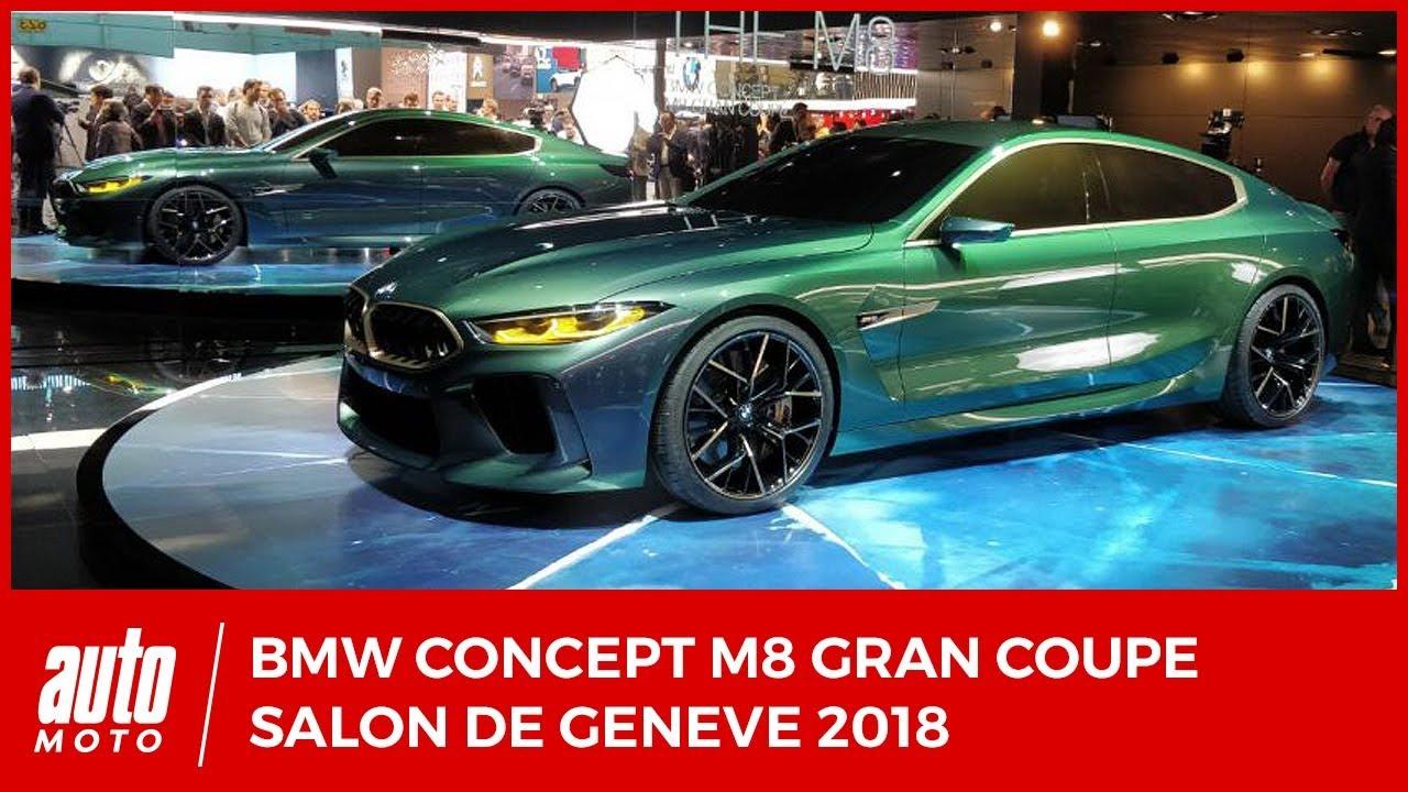 bmw m8 gran coupe concept salon de gen ve 2018 youtube. Black Bedroom Furniture Sets. Home Design Ideas