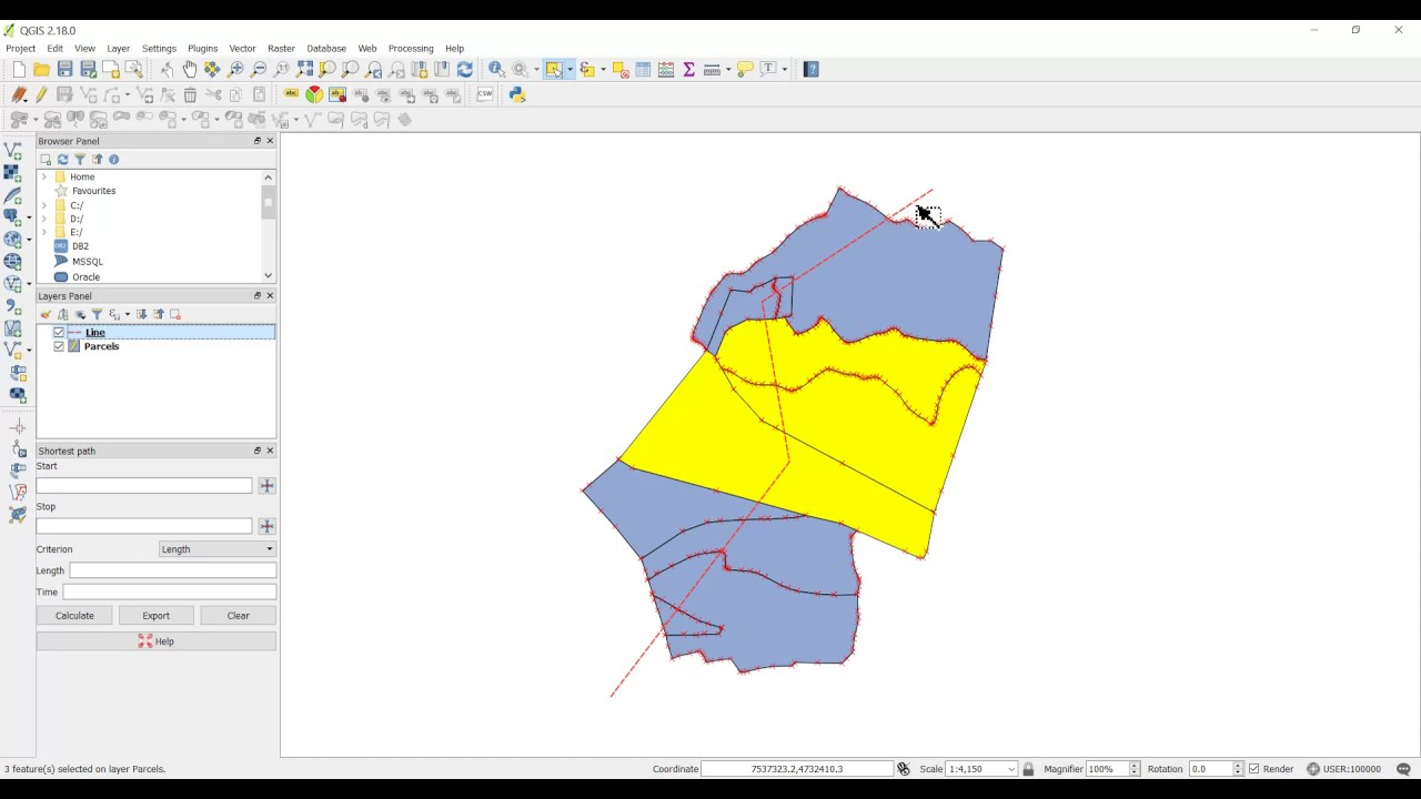 QGIS - Split a polygon feature with a digitized line