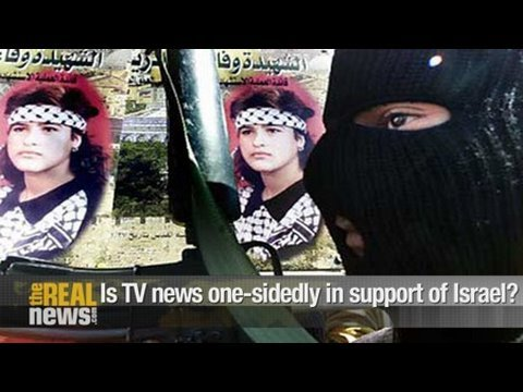 Is TV news one-sidedly in support of Israel?