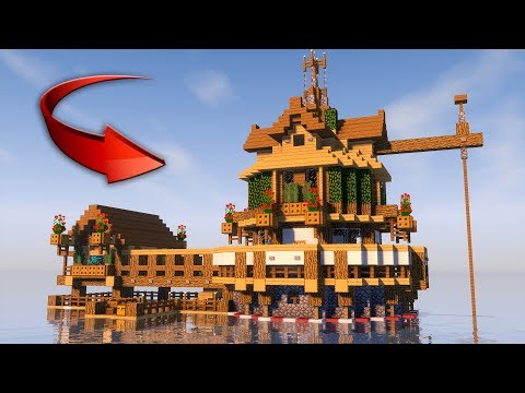SURVIVAL HOUSE IN MINECRAFT on the Water! [How To Make] 2017