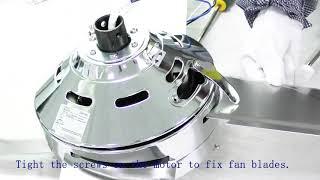 Tropical Fan New 44 inch instruction video