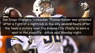 san diego chargers 1979 thomas keiser arrested on misdemeanor battery charge