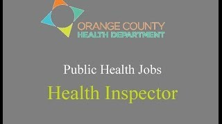 Public Health Jobs - Health Inspector