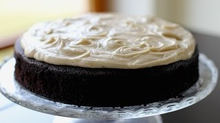 Guinness Chocolate Cake with Brown Butter Cream Cheese Frosting recipe- Hot Chocolate Hits