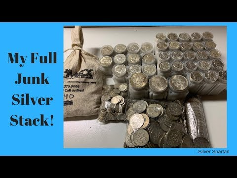 My Complete 90% Junk Silver Stack! (Hundreds of ozs.)